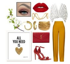 """Spring night out"" by mediha-delic ❤ liked on Polyvore featuring ADAM, Free People, Schutz, Yves Saint Laurent, Lime Crime, Black & Sigi и Maison Margiela"
