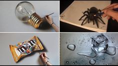 Realistic 3D Pencil Drawing Compilation 2017 - People With Amazing Talent Draw 3D Trick Art On Paper