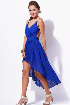 Blue dress juniors linen