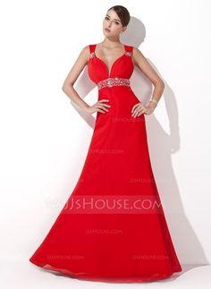 Evening Dresses - $135.99 - A-Line/Princess Sweetheart Floor-Length Chiffon Evening Dress With Ruffle Beading Sequins (017004434) http://jjshouse.com/A-Line-Princess-Sweetheart-Floor-Length-Chiffon-Evening-Dress-With-Ruffle-Beading-Sequins-017004434-g4434?ver=1