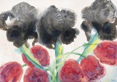 Emil Nolde (German, 1867-1956), Blumen [Flowers], 1934. Watercolour on paper, 34 x 47.7 cm.