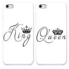 KING QUEEN Best Friend 2X Case Cover For iphone 6 6S SE Plus 5S Galaxy S5/6/7