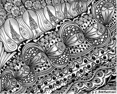 https://flic.kr/p/aCiCAh | For My Quinn ... | For my Grandson Quinn, who wants to know all about Zentangling ... if he was close enough, I would have already taught him all the basics by now ... but will send him Suzanne McNeills Zentangle basics book.  I needed a color break anyway ... I still love the pure black & white!  ... 5x5, Done with Kuretake black zig millinium & black writer pens ... hope you are all having a great week end! :)                     THANKS TO EVERYONE FOR AL...