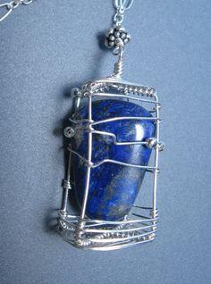 Found Treasures Series Lapiz Lazuli OOAK by AmyLoveDesigns on Etsy, $85.00