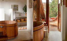 casa de banho com ofurô e varanda