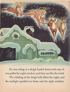 A page from Merry Christmas Mr. Snowman! Vintage Christmas book