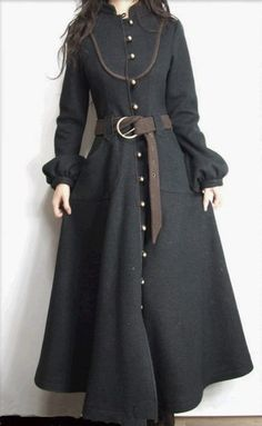 Floor length wool coat - mcloveinstyle