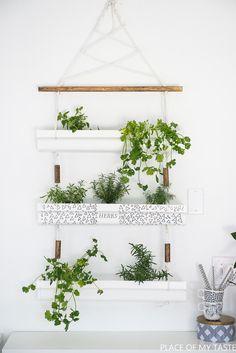 DIY: hanging herb planter