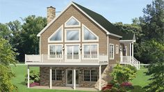 Home Plan HOMEPW77513 - 1691 Square Foot, 4 Bedroom 3 Bathroom A-Frame Home with 0 Garage Bays | Homeplans.com