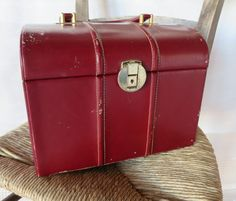 French Vintage Le Tanneur vanity case 50's  by RPArtandVintage