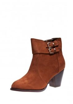 Cowboy Heel Buckle Ankle Boot, also in Black!