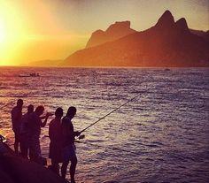 Ponta do Arpoador - Rio de Janeiro Brazil Culture, The Locals, Mountains, Sunset, World, Travel, Outdoor, Outdoors, Viajes