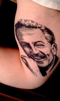 Tattoo of Walt Disney Disney Magic, Walt Disney, Real Tattoo, Disney Tattoos, Magic Kingdom, Pixar, Art, Art Background, Pixar Characters