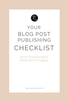Use this FREE checklist before & after you hit publish (no signup needed)
