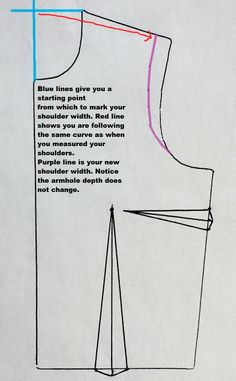 Shoulder adjustment on a pattern