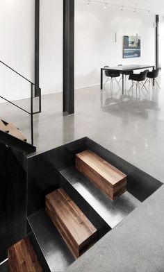 Amazing stairs designed by Nathalie Dionne architecte de Montréal.