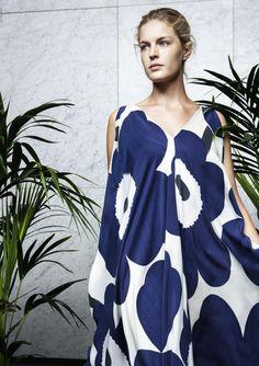 Marimekko's Lindo dress with Maija Isola's Unikko pattern.