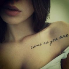 Come As You Are ~ Nirvana Tattoo ~ I must have this!!!