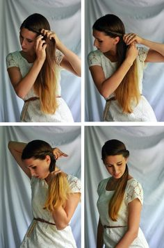 Simple Summer Hair Twist tutorial on Fine and Feathered
