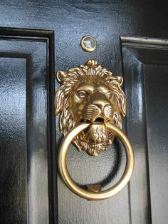 Perfect Marcus Design: {before U0026 After: My Front Door} Love The Lion Knocker
