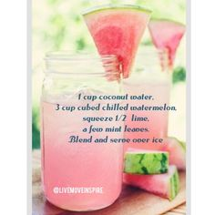 Watermelon breeze! Refreshing and healthy  summer drink! #recipe #summerrecipe #colddrink #cleaneating