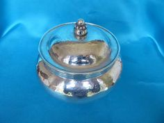 Fabulous Philip Frederick Alexander silver Arts and Crafts lidded bowl London 1913