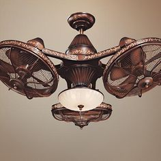 Esquire Industrial Ceiling Fan with Light LED Remote Control Solid Bronze Frosted Glass Bowl for Living Room Kitchen Bedroom Family Dining - Casa Vieja Rustic Lighting, Cool Lighting, Lighting Ideas, Steampunk Ceiling Fan, Header, Antique Ceiling Fans, Ceiling Fan Makeover, Outdoor Ceiling Fans, Room Lamp