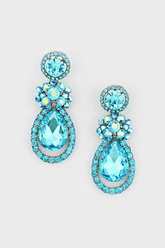 Elizabeth Earrings in Water Blue on Emma Stine Limited