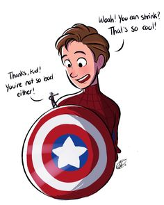 Corina Draws - Ant Man and Spider Man Marvel Captain America Civil War Marvel Funny, Marvel Memes, Marvel Dc Comics, Ms Marvel, Captain Marvel, Captain America, Marvel Universe, Deadpool, Dc Memes