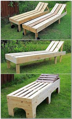 pallets made sun lounger
