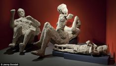 POMPEI at the british museum Horror: A family frozen in their death throes