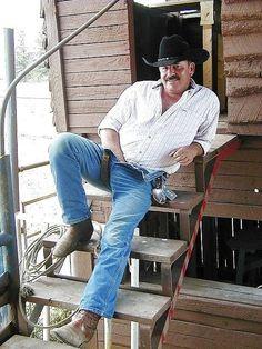 Hot Men Bodies, Hot Country Boys, Daddy Bear, Bear Men, Slip, Mustache, Cute Guys, Cowboys, Cowboy Boots