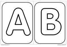 Décorer l'initiale de son prénom - Alphabets – Affichages pour la classe – Maternelle – PS – MS – GS - Pass Education Preschool Names, Name Activities, Pass Education, Name Writing Practice, Sons Initiaux, Coloring Letters, Read Letters, French Language Lessons, English Alphabet