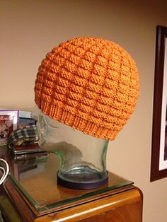 """Christian's Hat"" waffle knit hat - free pattern on Ravelry"