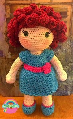 This clothing pattern fits my Audrey doll base pattern which you can find free in my Ravelry store. The pattern includes instructions for the dress and clothing pictured.