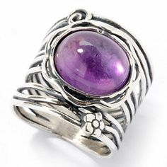 Passage to Israel Sterling Silver Gemstone Choice Oval Ring