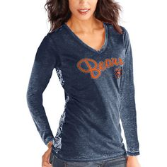 Women s Chicago Bears Touch by Alyssa Milano Navy Blue Audrey Long Sleeve T- Shirt. Women s Carolina Panthers ... 554b36c70