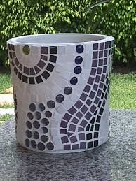 Resultado de imagen para vasos mosaicos