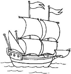Free, Mayflower Boat Coloring Page - free printable mayflower coloring . printable coloring book pages, connect the dot pages and color by numbers pages for kids. Pirate Coloring Pages, Preschool Coloring Pages, Coloring Book Pages, Coloring Pages For Kids, Coloring Sheets, Adult Coloring, Kids Coloring, Columbus Ship, Pirate Boats