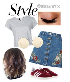 girl about town by ellasarahxx on Polyvore featuring polyvore, fashion, style, RE/DONE, Miss Selfridge, adidas, Victoria Beckham, Avon and clothing