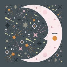 Carly Watts Art & Illustration: Mr Moon