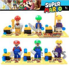 Super Mario Bros 6 Minifigures Block Set New Gift Toys Building Blocks Easter #Unbranded