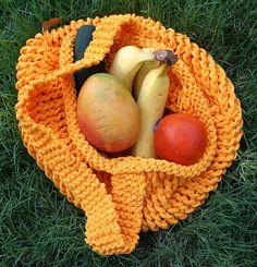 A Market Bag using Tshirt yarn