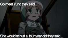 Mirai Nikki Fifth- there is a reason I find certain children creepy. this child is one of the reasons Yandere Anime, Manga Anime, Mirai Nikki Future Diary, Yuno Gasai, Anime Life, Awesome Anime, Anime Shows, Kawaii, Me Me Me Anime