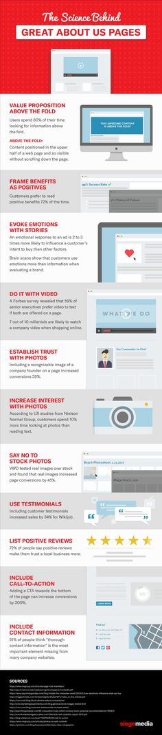 11 Steps to an Amazing About Us Page for Your Business Website [Infographic] Business Website, Online Business, Small Business Trends, Business Tips, Web Design, Graphic Design, About Me Page, Product Page, Site Internet