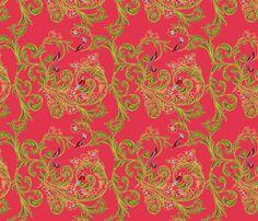 volute_russe_rouge fabric by nadja_petremand on Spoonflower - custom fabric