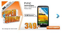 HTC One X  Black 64GB für 349,00 Euro im Super Sunday