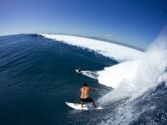 Dave Wassel and Kelly Slater, Fiji. Photo: Glaser