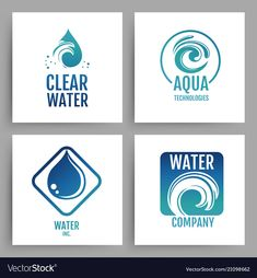 Colorful water company logos clean water emblem vector image on VectorStock Waves Icon, Water Company, Wild Grass, Water Logo, Cleaning Services, Benjamin Moore, Logo Inspiration, Adobe Illustrator, Vector Free