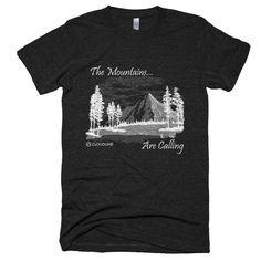 American Apparel Tri-Blend Tee - Mountains Calling Design - Men's